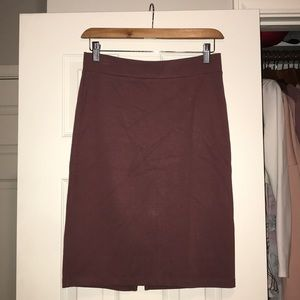 Mauve pencil skirt from Charlotte Russe